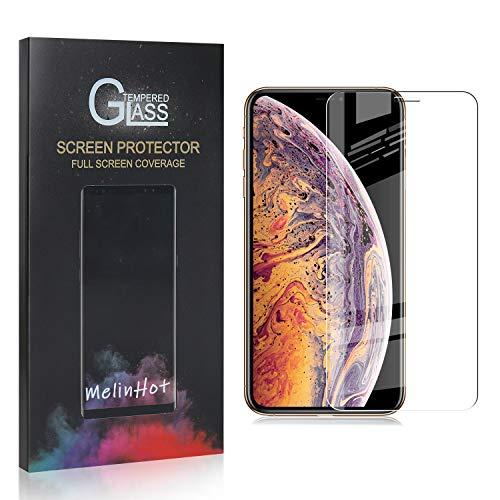 MelinHot Displayschutzfolie für iPhone 11 Pro Max, 9H Anti Kratzen Panzerglasfolie, 99% Transparente Schutzfilm aus Gehärtetem Glas für iPhone 11 Pro Max, 2 Stück