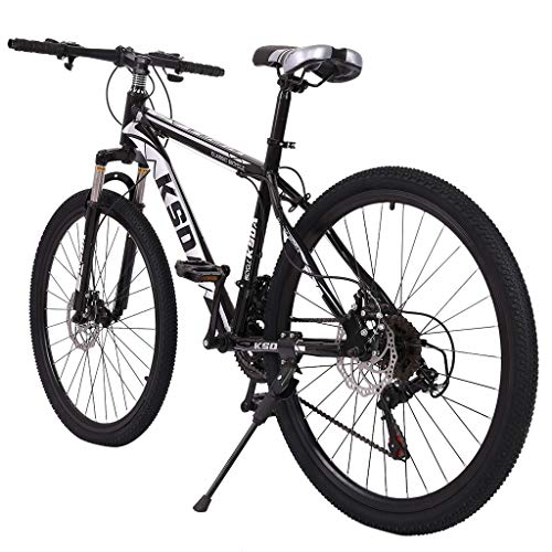 Sentmoon 26 Inch 21-Speed ​​Bicycle Junior Aluminum Full Mountain Bike, Stone Mountain Lightweight Bike for Students Office Workers Urban Commuter
