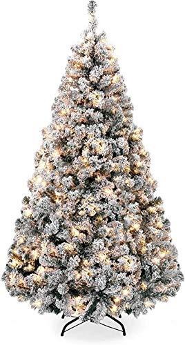 albero di natale bianco 240 cm ZQQYP Neve Bianca di Natale affollano Natale Simulazione Albero di crittografia Artificiale Cedro Decorazione PVC 1.5/1.8m3m
