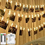 HANNAHONG 20 LED Photo Clip Fairy String Lights for Hanging...