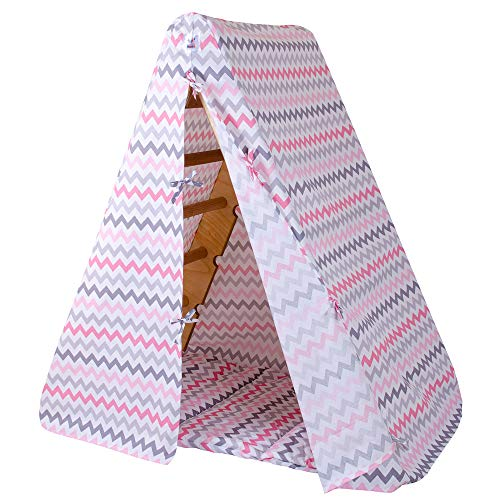 Goodevas Tent Playhouse and Baby Toy Rug - Kids Tee Pee for Montessori Climbing Triangle - Children's Best Tipi with Mat