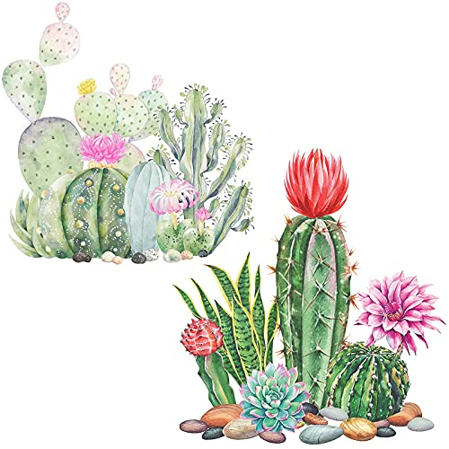 Cactus 5D Diamond Painting Kits for Adults Beginners - 2 Sets Full Drill Plant Flower Diamonds Art Paint by Number Kits for Home Craft Decoration DIY (11.8x11.8 inch)
