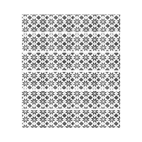 Manyao - Lote de 6 pegatinas para azulejos de escalera, diseño de cuadros, color gris oscuro