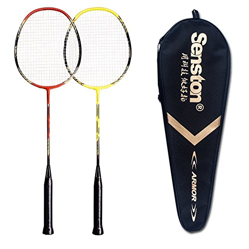 Senston - 2 Pack Badminton Rackets Double...