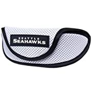 Fits even wide lense styles Officially licensed NFL product Soft microfiber lining Velcro closure on case Brightly colored team logo Fits even wide lens styles
