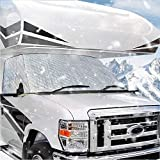 MOFEEZ RV Windshield Snow Cover Class C Compatible with Ford 1997-2020 Waterproof Magnetic Front Window Winter Covers