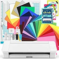 Silhouette White Cameo 4 Creative Bundle w/ 26 Oracal 651 Sheets, 12 HTV Sheets, Guides, Tools, and More