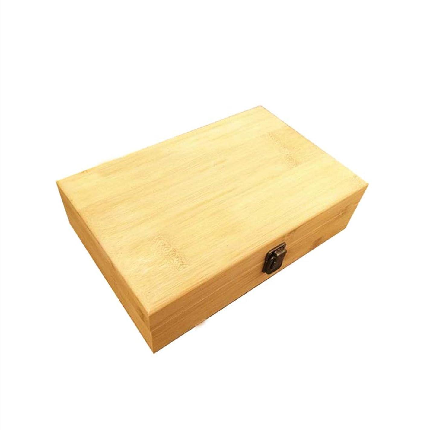 オフレコーダー剥ぎ取る40スロットエッセンシャルオイルボックス木製収納ケースは、40本のボトルエッセンシャルオイルスペースセーバーの開催します 香水フレグランス (色 : Natural, サイズ : 29X18.5X8CM)