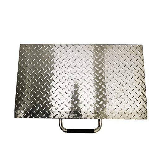 BBQSTAR Cubierta rígida para parrilla de 71 cm con parte superior plana para Blackstone, accesorio de parrilla de 71 cm, placa de diamante de acero inoxidable, mango de...