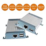 HDMI KVM USB Extender with POE, Ansten 80m 262ft HDMI RJ45 Transmitter and...