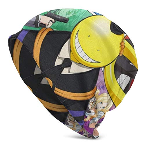 Assassination Classroom-Korosensei Anime Style Knit Hat Unisex Beanie Skull Cap Gorro de Invierno cálido Ligero y Transpirable