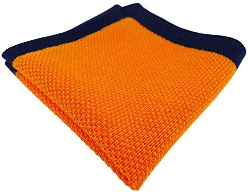 TigerTie Designer corda pochette in arancione marino Uni - 100% di cotone