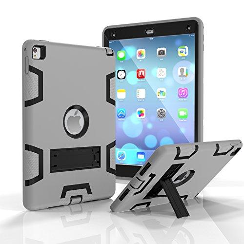 Darmor Shop - Funda para iPad Air 2 (función Atril) y Protector híbrido de Silicona de Tres Capas para iPad Air 2 y iPad 6