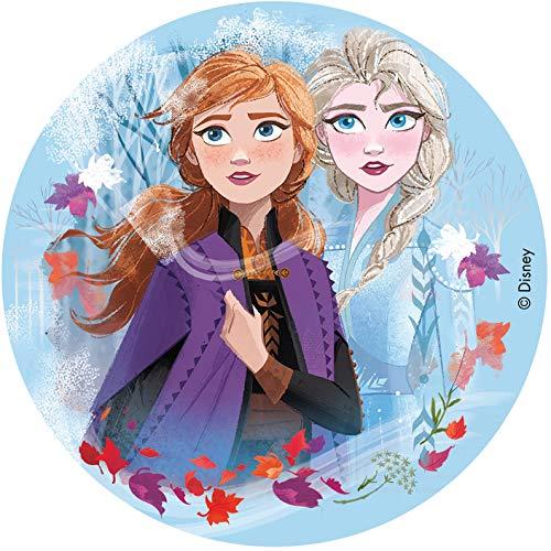 Dekora- Disco Comestible para Decoración de Tartas de Cumpleaños de Disney Frozen 2-16 cm (231347)