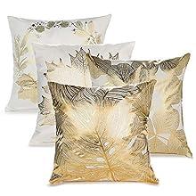 IWILCS Fundas de Almohada de Estampado en Caliente de 4 Piezas, Funda de Almohada Hug Pattern, Funda de cojín Throw Pillow para Cama sofá Sala de Estar Dormitorio, 45 * 45 cm