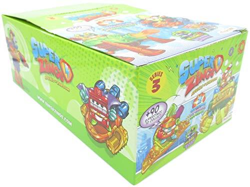 Magicbox - SUPERZINGS Serie 3 Conjunto Completo 8 Dual Box 16 Figuras 8 Superslider + 8 Superbot Original Super Zings