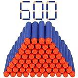 Stomping Ground Toys Fléchette Nerf 7.2 cm en Recharges pour Pistolet Nerf N-Strike Elite Series Blaster - Pack de 600 Fléchettes Couleur Bleu
