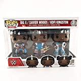 Funko Pop WWE : Big E Xavier Woods & Kofi Kingston 3 Pack 3.75inch Vinyl Gift for Professional Wrestling Fans Figure