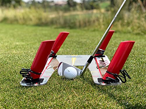 EyeLine Golf Speed Trap 2.0 - Build Confidence and Improve Your Swing with Slice and Hook Corrector- Swing Trainer, Path Aid, Greater Distance - MADE IN USA - Unbreakable Polycarbonate Base