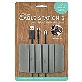 UT Wire UTW-CS04-GY Grey Cable Station Mountable Organizer, Writable