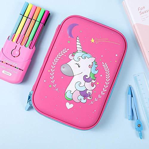 Pencil Box Large Capacity Eva Multi-Function Waterproof Pen School Children Pencil Portable Simple Handbag,O
