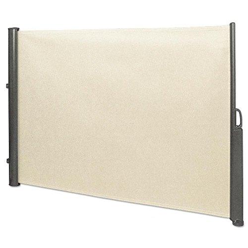 Jawoll Seitenmarkise 1,8 x 3,5 m beige Sichtschutz Seitenwandmarkise Windschutz