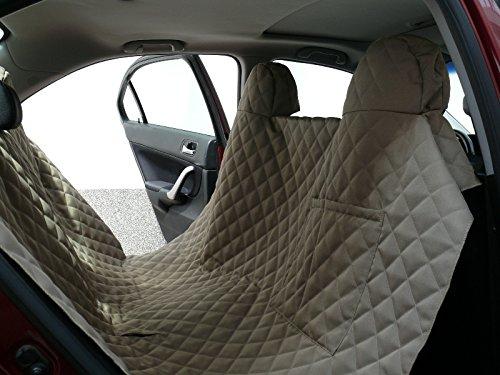 hochwertige Hundedecke Autoschutzdecke Auto Schutzdecke Hunde 140x160cm beige