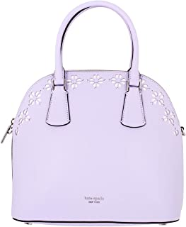 Kate Spade Sylvia Perforated Ladies Large Frozen Lilac Leather Satchel Bag PXRUA279-522