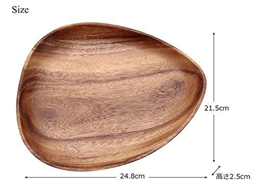 木製 食器 トレー お皿 エッグ アカシア 24.8*21.5*H2.5