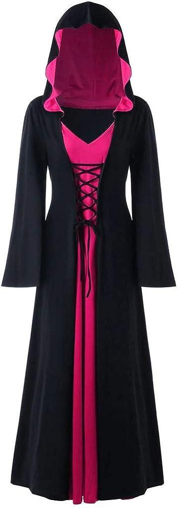VEKDONE Women Vintage Medieval Dress D Safety and trust Renaissance Gothic Hooded Nashville-Davidson Mall