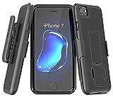 Encased iPhone 7 Belt Holster, Thin Fit [DuraClip Series] Slim Grip Case & Belt Clip (Smooth Black)