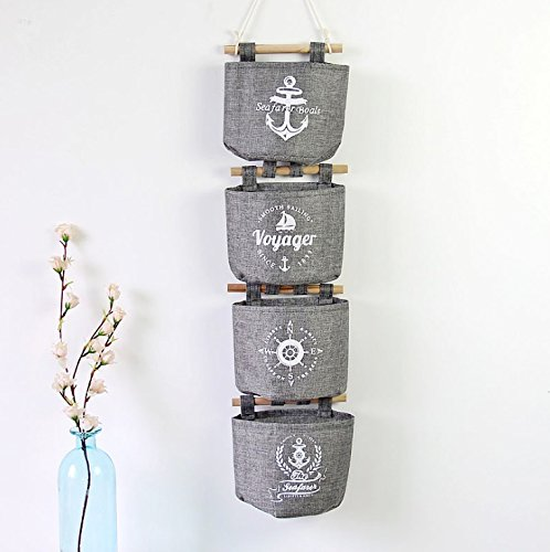 E EBETA Hängende Tasche Aufbewahrungstasche Hängeorganizer Wand Tür Organizer Utensilientasche 4er Set Grau
