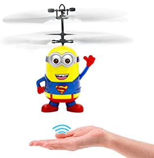 Flying Ball, Kids Flying Toys, RC Infrared Induction Helicopter Ball Built-in Shining Color Change LED Lighting for Kids, Teens (Red)