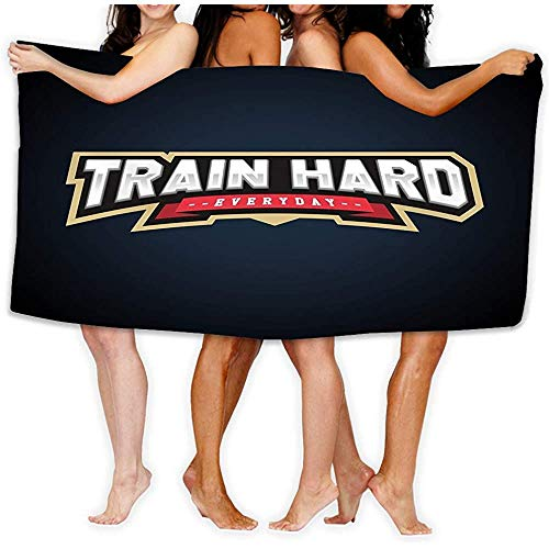 Yocmre fluwelen absorberende washandjes inch train hard tekst Power Volledige Typografie Train Hard t