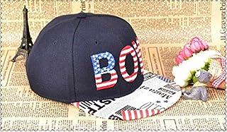 Fashion personality newspaper brim boy hip-hop baseball cap for kids black BH13-2