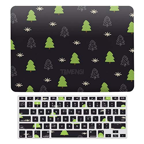 Plastic Hard Shell Case & Keyboard Cover Compatible with MacBook Air 13 inch/MacBook Air Pro 13' (Models: A1369 & A1466/ A2159/A1989/A1706), Merry Christmas