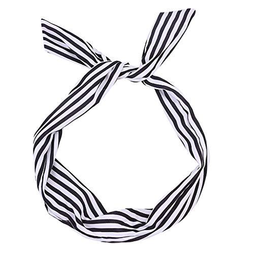 Satiable Haarband Damen Rockabilly Kabelgebundenes Stirnband Frauen Retro Tupfen Tartan Schal Draht Haarband Braid Bow Verschiedene Farben Haarschmuck Haarreife Kopfschmuck Bandana Für Flechtfrisuren