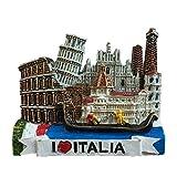 Toscana Italia Europa Viaje Mundial Resina 3D Fuerte Imán de Nevera Regalo Turístico Imán Chino Hecho a Mano Artesanía Creativa Decoración de Hogar y Cocina Pegatina Magnética (Estilo 3)