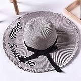 kyprx chapeu Sombrero Femenino Sombrero de Sol de Playa Sombrero de Mujer Sombrero de Sol Sombreros...