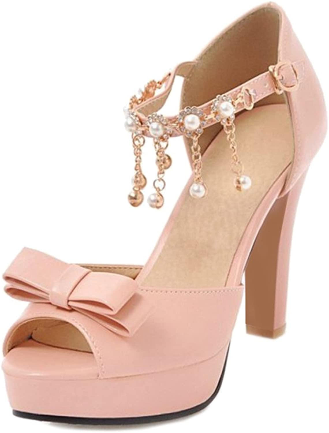 Cocey Women Sandals with High Heel and Thick Platform