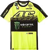 ヤマハ(YAMAHA) Tシャツ ロッシ VR46 Tシャツ 46&Monster&agvロゴ イエロー/ブラック Mサイズ(欧州) Q5D-YSK-335-00M