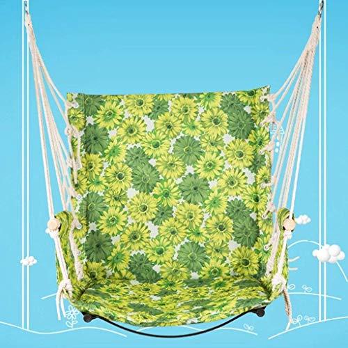 WYJW Hangmat schommelstoel, met zachte gewatteerde touw opknoping schommelset, tuin opknoping touw hangstoel veranda schommelstoel voor werf veranda Patio, Hot kleuren
