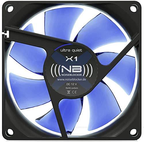Noiseblocker PC Gehäuselüfter 80mm BlackSilent Fan XC1 - PC Lüfter 80mm mit Silent Wings - Die Maximale Lautstärke Beträgt nur 21dB (A) und Airflow von 35,7 m3/h
