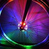 NuoYo Luz de la Rueda de Bicicleta Colorida Luz de Advertencia de la Bicicleta, 3 Modos de Bicicleta Ciclismo de la Bici Luz de Seguridad de la Luz