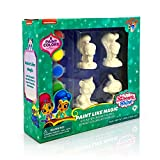 Lollipop Toys Shimmer and Shine Paint Like Magic Figures, Painting Set for Kids, Includes 4 Figures, 6 Paint Colors with Brush Complete Plaster Craft Kit for Kids