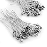 Ecloud ShopUS 50 Antique Tibetan Silver Tone 55mm Head Pins Needles FASHION