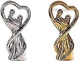 WHBDD Los Amantes Que abrazan Las esculturas de Resina de Arte, Ornamentos románticos Abstractos, decoración del hogar, Adornos de Estatua de Mesa