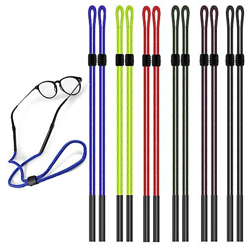 12 Pcs del Fermo per occhiali regolabile, monocolo titolare cinghie, maxin colorato Nylon intrecciato Safty Eyeglasses collo cordino, Sunglass titolare tracolla Unisex Sport e attività all'aperto