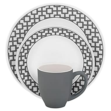 Corelle Urban Grid Dinnerware Set (16-Piece, Service for 4)