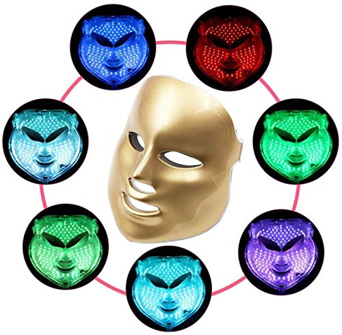 Instrument de beauté de beauté de photothérapie de photothérapie à 7 couleurs, instrument de beauté au spa du visage, élimination anti-acné rides, augmenter l'instrument de rajeunissement de la peau e